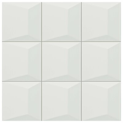 Tello 6 x 6 Ceramic Field Tile in Blanco