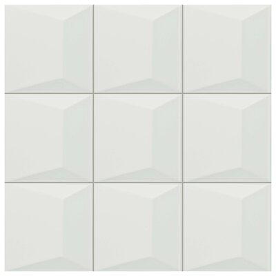 Tello 6 x 6 Ceramic Field Tile in Blanco