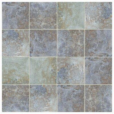 Luis 6 x 6 Porcelain Field Tile in Azul Sea