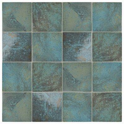 Luis 6 x 6 Porcelain Field Tile in Green River