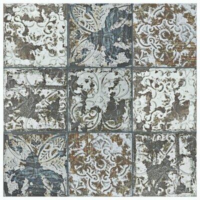 Aevit 7.88 x 7.88 Ceramic Field Tile in Dark Ornato