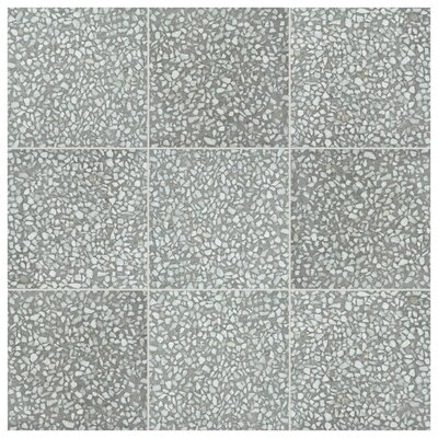 Parma Amalfi 11.5 x 11.5 Porcelain Field Tile in Grafito