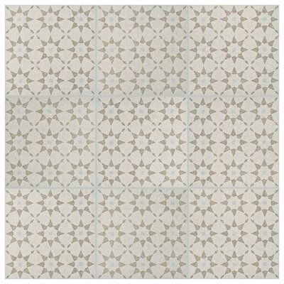Parma Aventino 11.5 x 11.5 Porcelain Field Tile in Crema