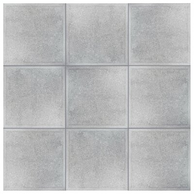 Stellum 19.75 x 19.75 Ceramic Field Tile in Gray
