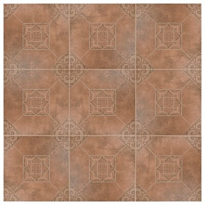 Montes 17.63 x 17.63 Ceramic Field Tile in Teja
