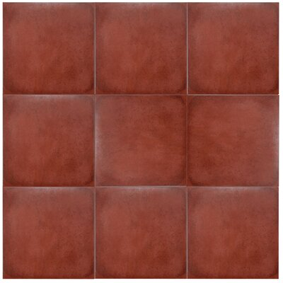 Symbals 13.13 x 13.13 Porcelain Fabric Look Tile in Red