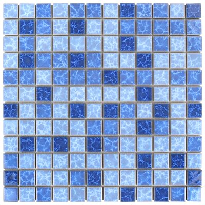 Pool 0.91 x 0.91 Porcelain Mosaic Tile in Aegean