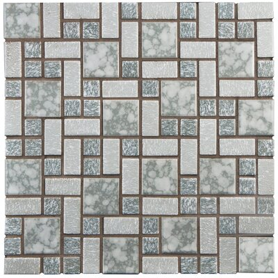 Academy Random Sized Porcelain Mosaic Tile in Gray
