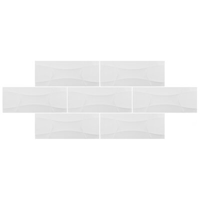 Castra 7.88 x 19.63 Ceramic Field Tile in White