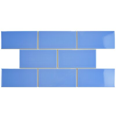 Prospect 3 x 6 Ceramic Subway Tile in Blue