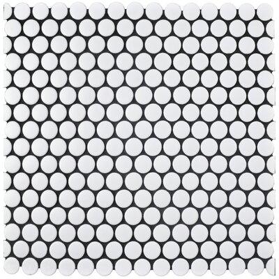 Retro 0.75 x 0.75 Porcelain Mosaic Tile in Matte White