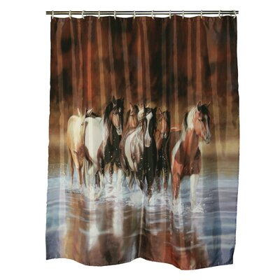 V Shultz Horse Shower Curtain