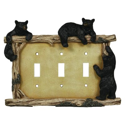 Bear Triple Switch Plate Cover