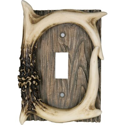 Deer Antler Single Switch Cover