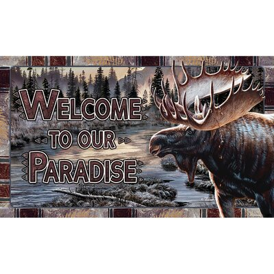 Moose Welcome Doormat