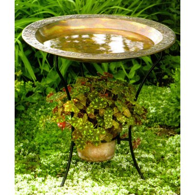 Copper Plated Steel Birdbath (Set of 2)