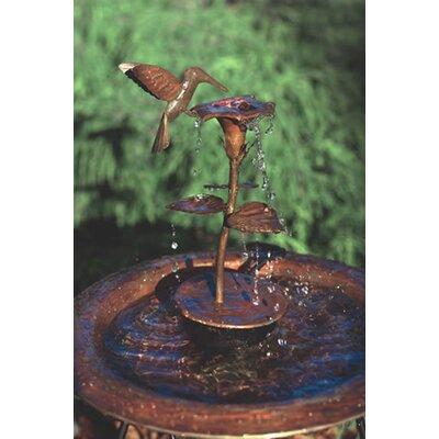 Copper Hummingbird Dripper Fountain