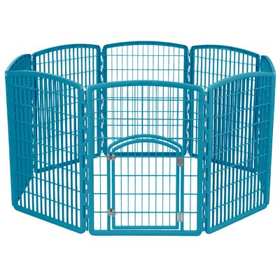 34 Indoor/Outdoor Plastic Pet Pen Color: Blue Moon