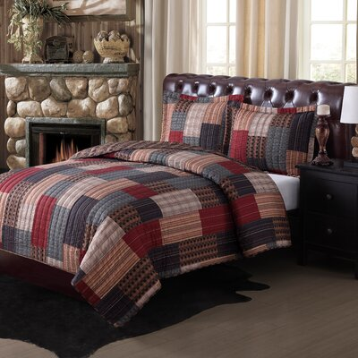 Gunnison Reversible Quilt Set Size: King