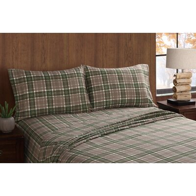 Long Trail Plaid Sheet Set Size: Queen