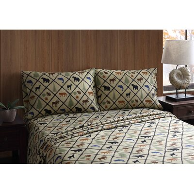 Wilderness Retreat Grid Sheet Set Size: Full