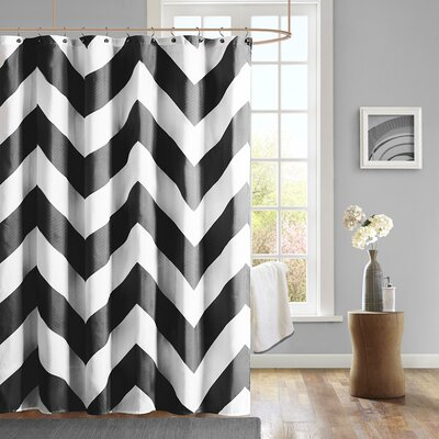 Bullock Shower Curtain Color: Black