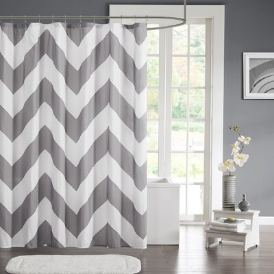 Bullock Shower Curtain Color: Gray