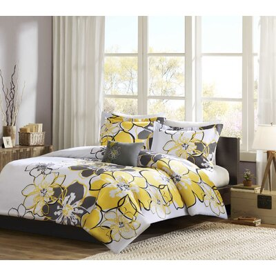 Kieran Duvet Cover Set Size: Twin / Twin XL, Color: Yellow