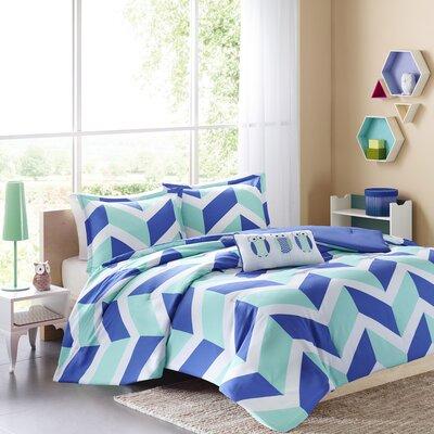 Billie Comforter Set Size: Full / Queen, Color: Blue