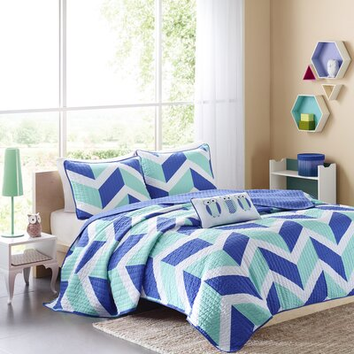 Billie 3 Piece Coverlet Set Size: Twin XL, Color: Blue