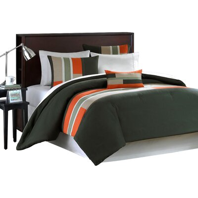 Pipeline Duvet Cover Set Size: Full/Queen, Color: Olive