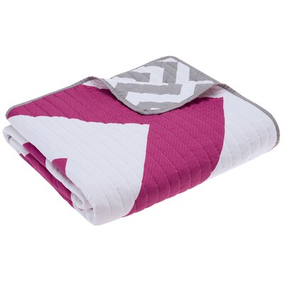 Bullock Oversized Quilted Throw Blanket Color: Pink