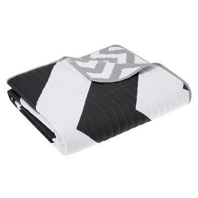 Bullock Oversized Quilted Throw Blanket Color: Black