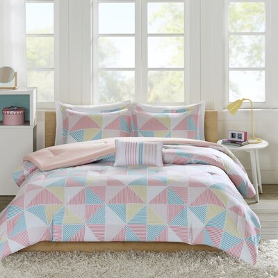 Charlie Comforter Set Size: Twin/TXL, Color: Pink