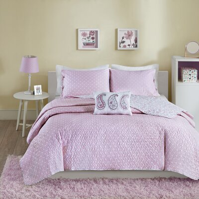 Susie Coverlet Set Size: Full/Queen, Color: Pink