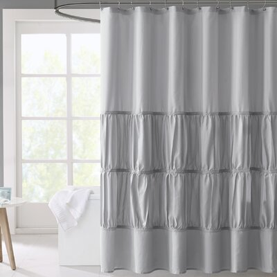 Carolina Microfiber Shower Curtain Color: Gray