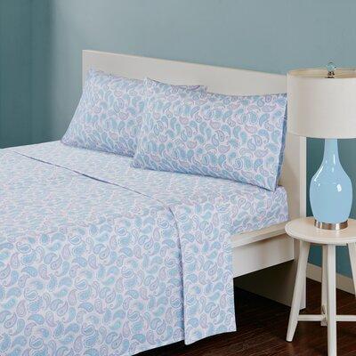 180 Thread Count Cotton Sheet Set Size: Twin, Color: Aqua