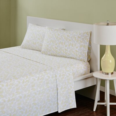 180 Thread Count Cotton Sheet Set Size: Full, Color: Yellow