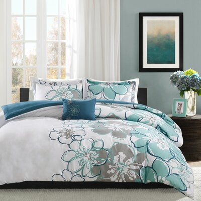 Kieran Duvet Cover Set Size: Full / Queen, Color: Blue