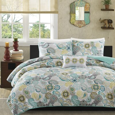 Aguirre Coverlet Set Size: Twin / Twin XL, Color: Blue