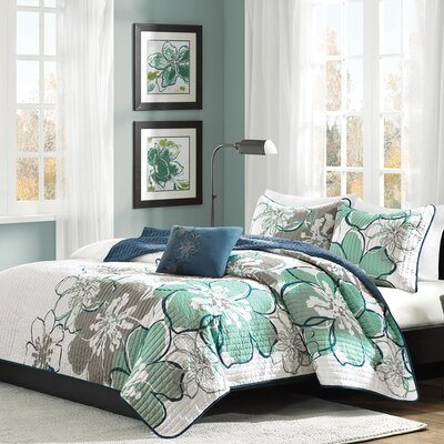 Kieran Coverlet Set Size: Twin / Twin XL, Color: Blue