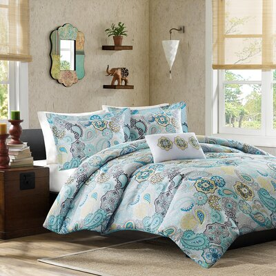 Aguirre Comforter Set Color: Blue, Size: Full / Queen