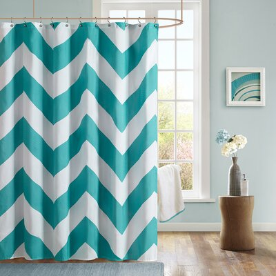 Libra Shower Curtain Color: Teal