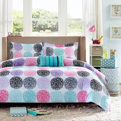 Silvia Reversible Comforter Set Size: Full/Queen