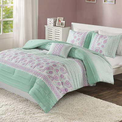 Suzette Reversible Comforter Set Size: Full/Queen
