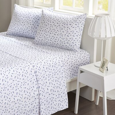 Stars Sheet Set Size: Queen, Color: Navy