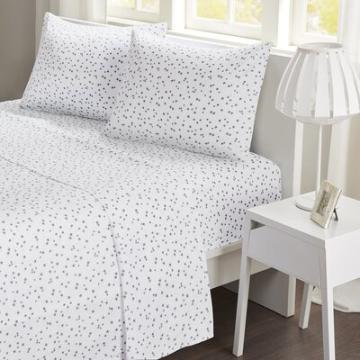 Stars Sheet Set Size: Twin, Color: Gray