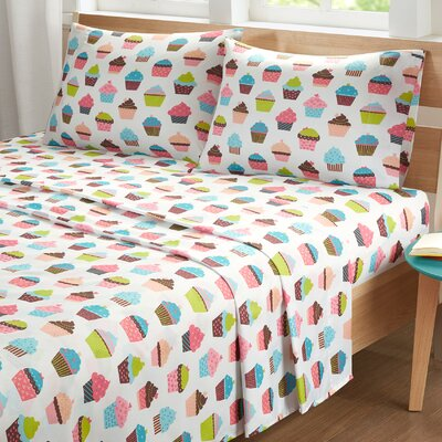 Earnestine Cupcake Dreams Sheet Set Size: Twin
