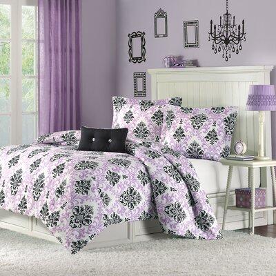 Piper Teen Comforter Set Size: Full / Queen, Color: Purple