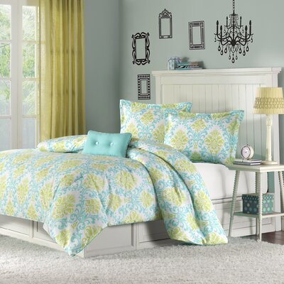 Piper Teen Comforter Set Size: Full / Queen, Color: Teal